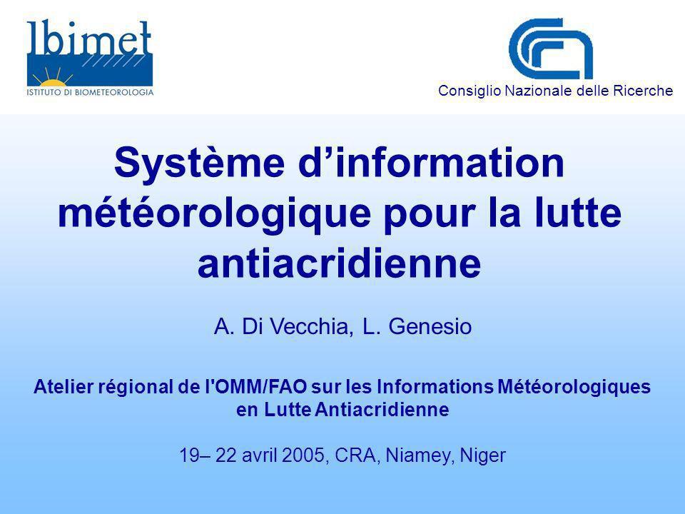 Système d'information météorologique pour la lutte antiacridienne