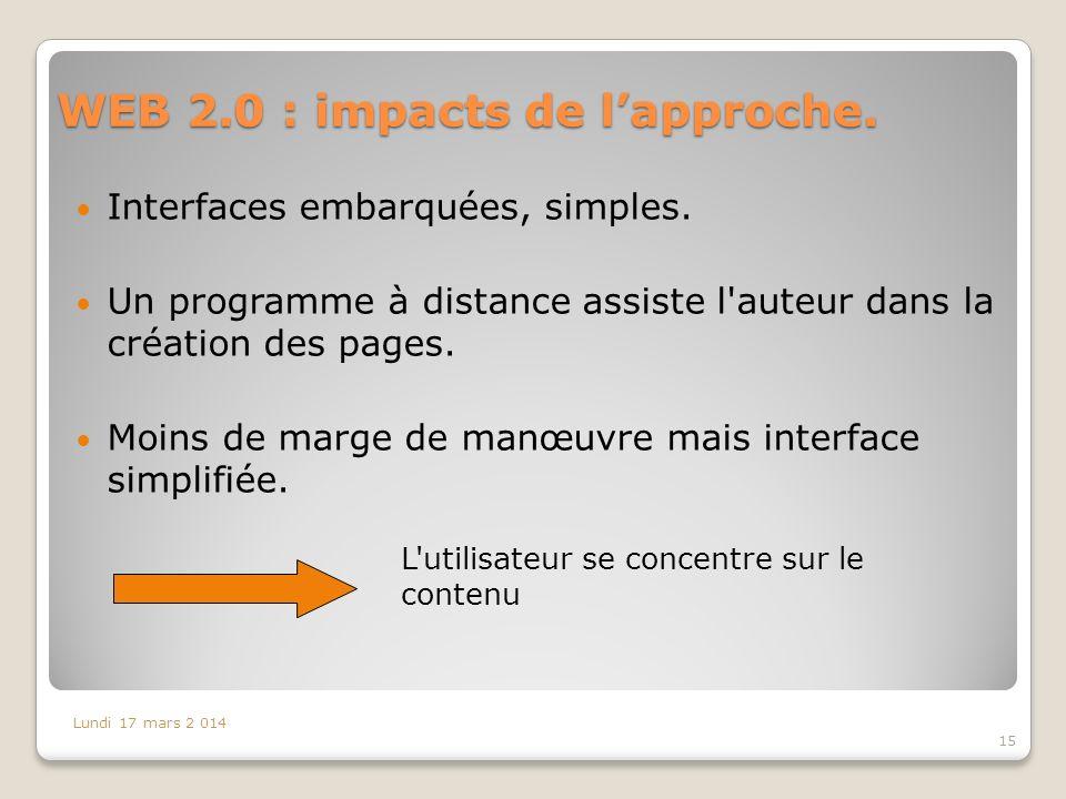 WEB 2.0 : impacts de l'approche.