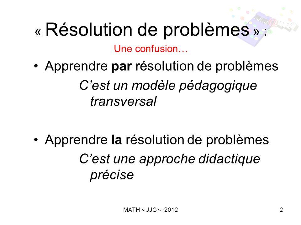 « Résolution de problèmes » :