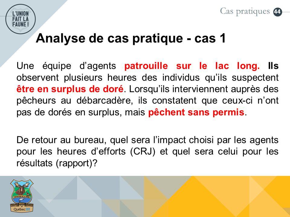 Analyse de cas pratique - cas 1