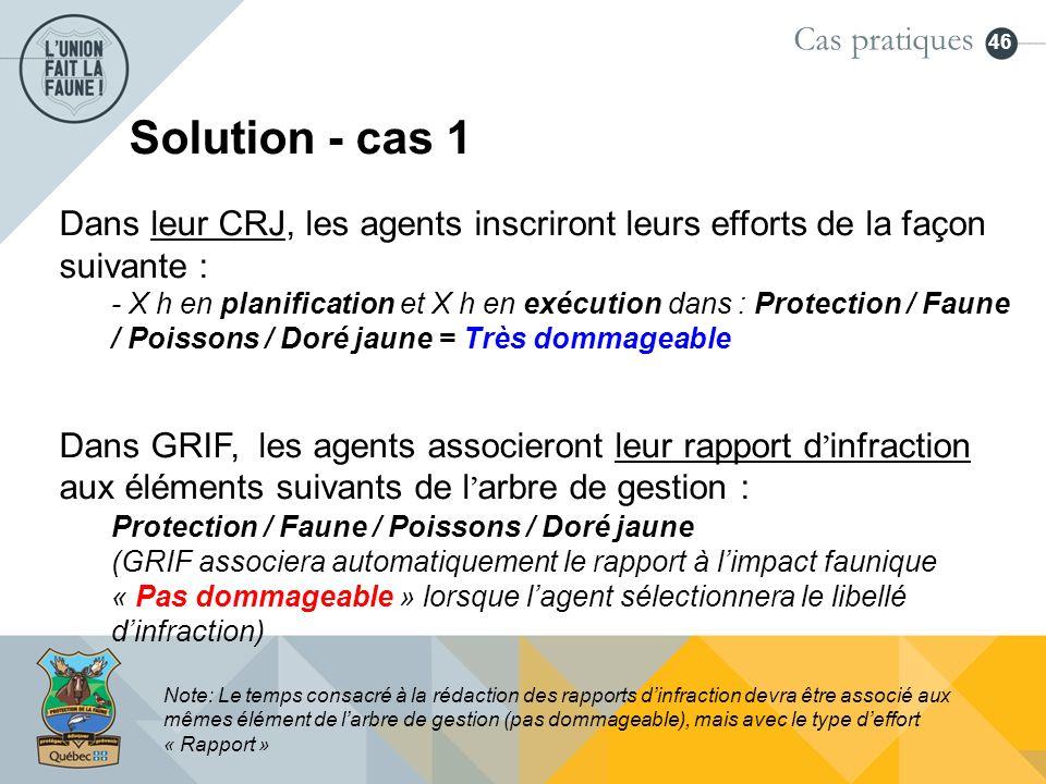 Solution - cas 1 Cas pratiques
