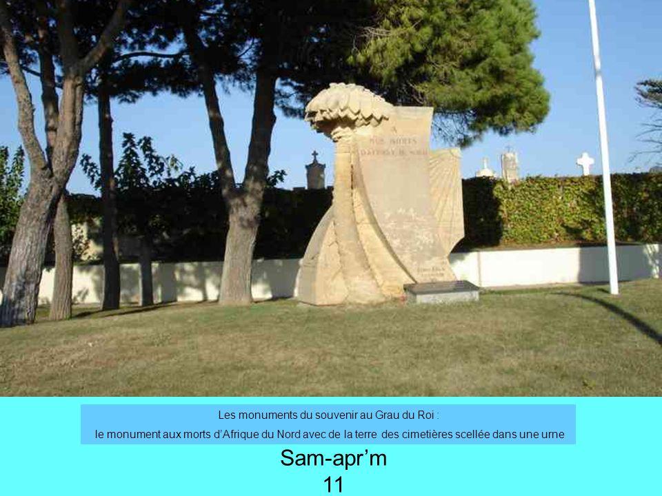 Les monuments du souvenir au Grau du Roi :