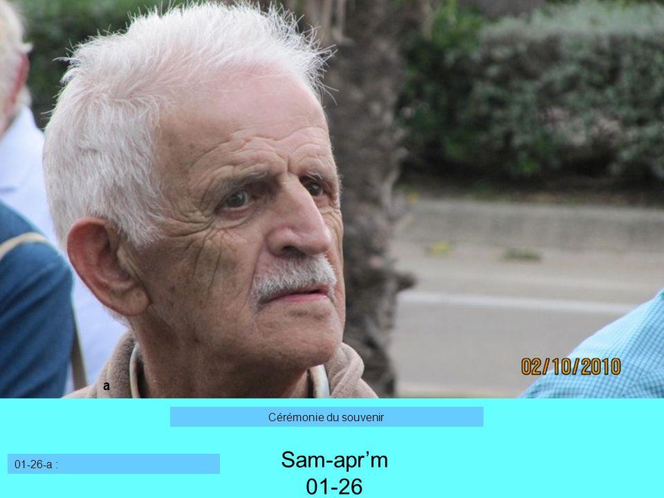 a Cérémonie du souvenir Sam-apr'm 01-26 01-26-a :