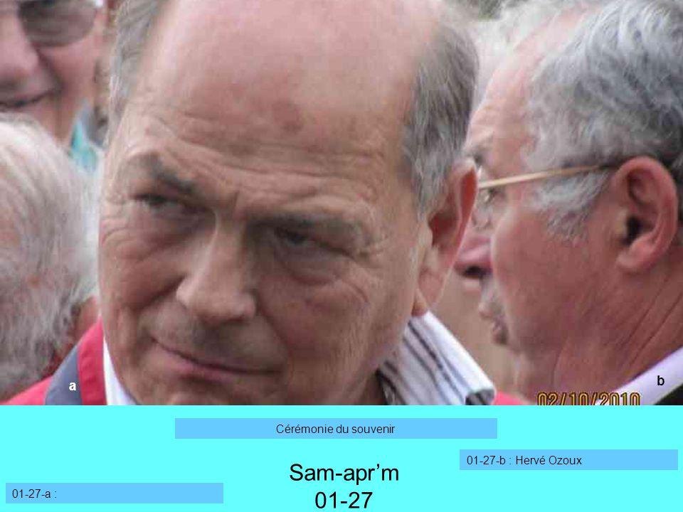 Sam-apr'm 01-27 b a Cérémonie du souvenir 01-27-b : Hervé Ozoux