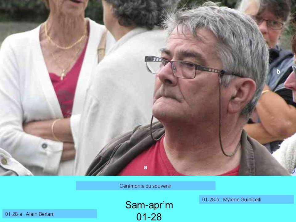Sam-apr'm 01-28 b a Cérémonie du souvenir 01-28-b : Mylène Guidicelli