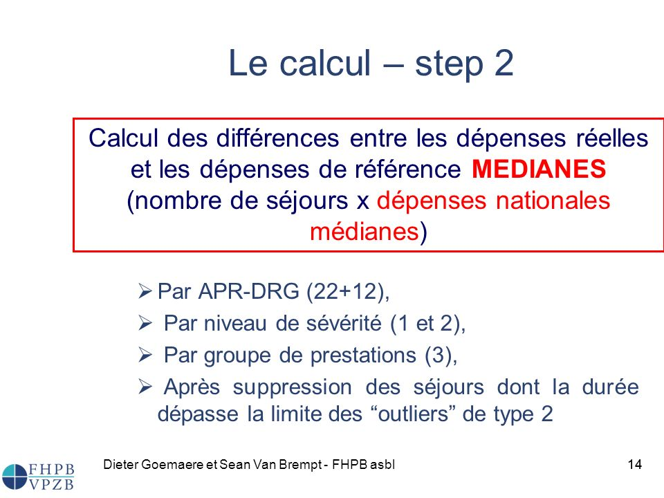 Le calcul – step 2