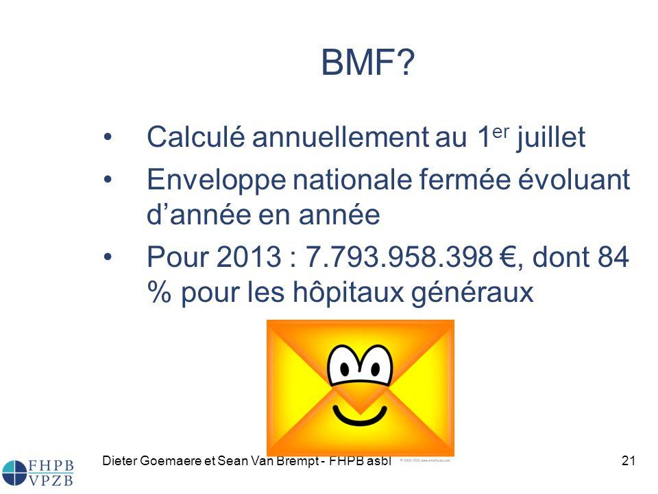 BMF Calculé annuellement au 1er juillet