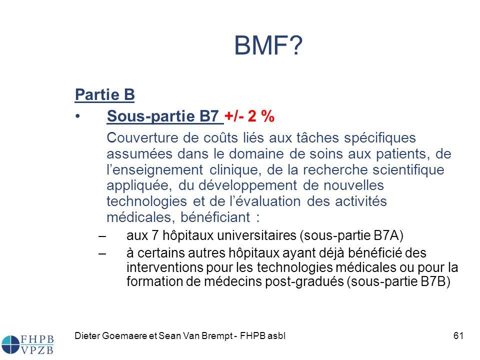 BMF Partie B Sous-partie B7 +/- 2 %