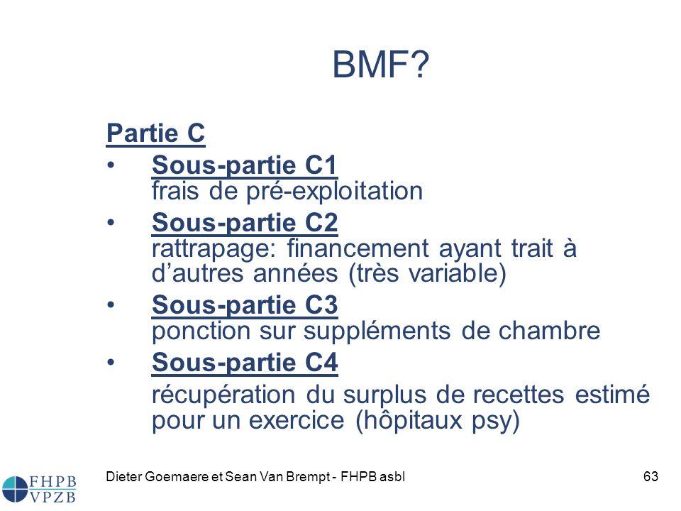 BMF Partie C Sous-partie C1 frais de pré-exploitation