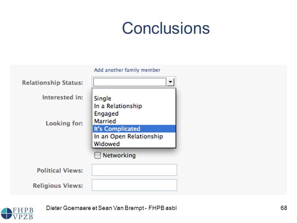 Conclusions Dieter Goemaere et Sean Van Brempt - FHPB asbl