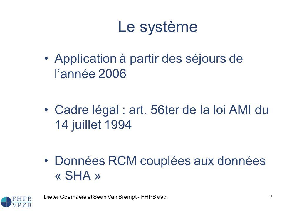 Le système Application à partir des séjours de l'année 2006
