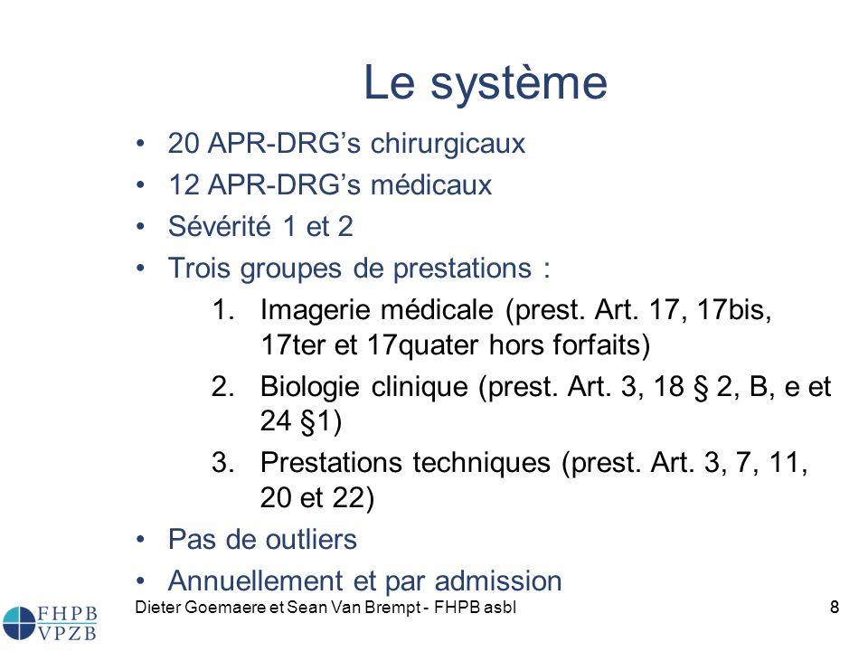 Le système 20 APR-DRG's chirurgicaux 12 APR-DRG's médicaux