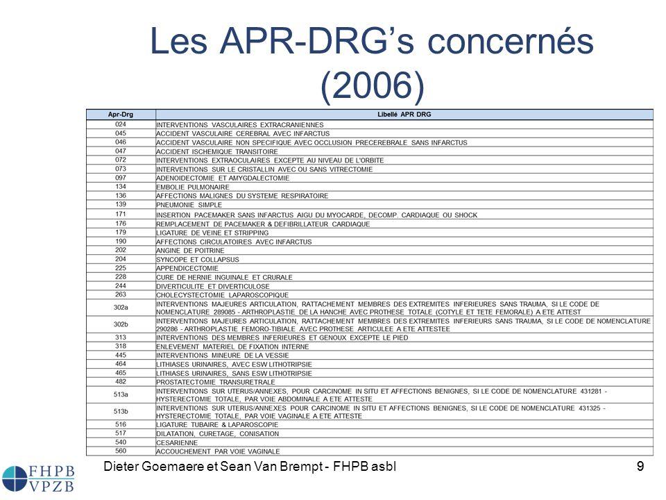 Les APR-DRG's concernés (2006)