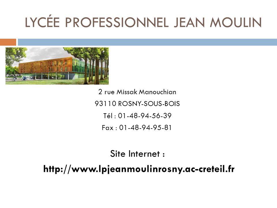 LYCÉE PROFESSIONNEL JEAN MOULIN