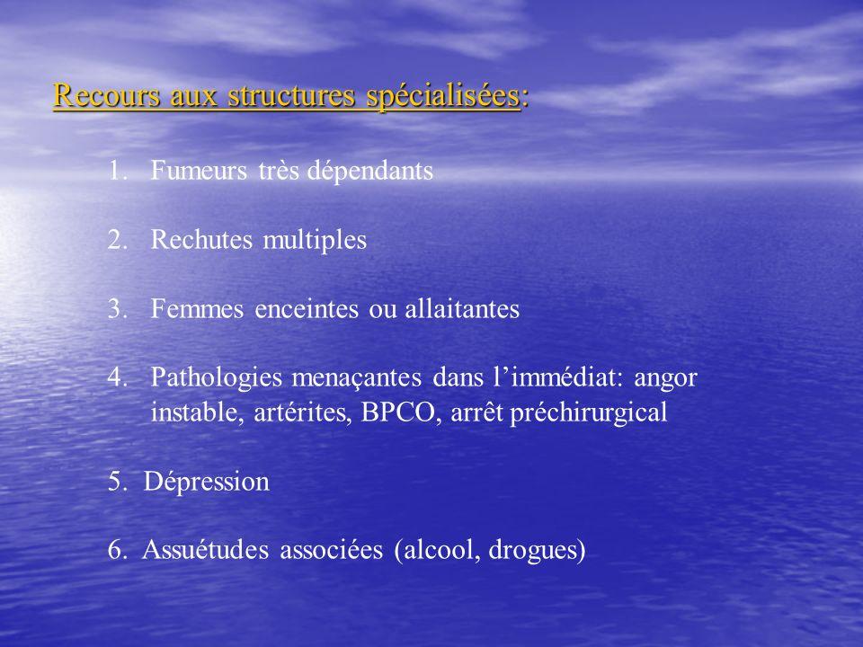 Recours aux structures spécialisées: