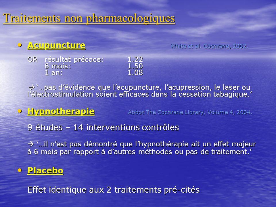 Traitements non pharmacologiques