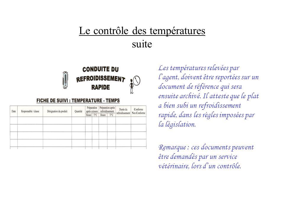 Le contrôle des températures suite