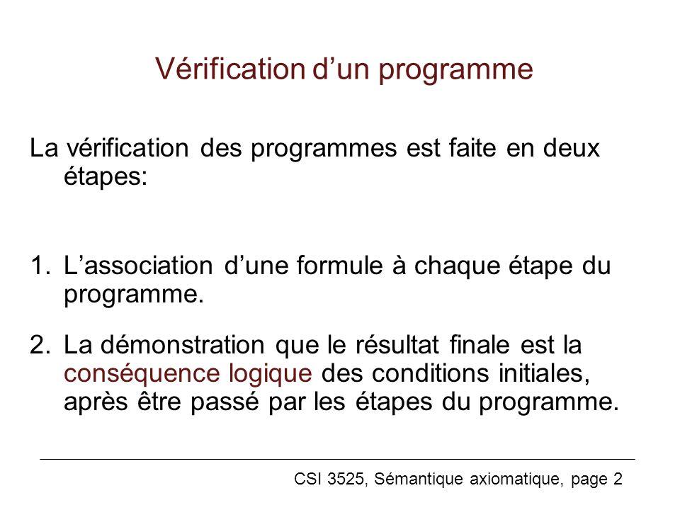 Vérification d'un programme