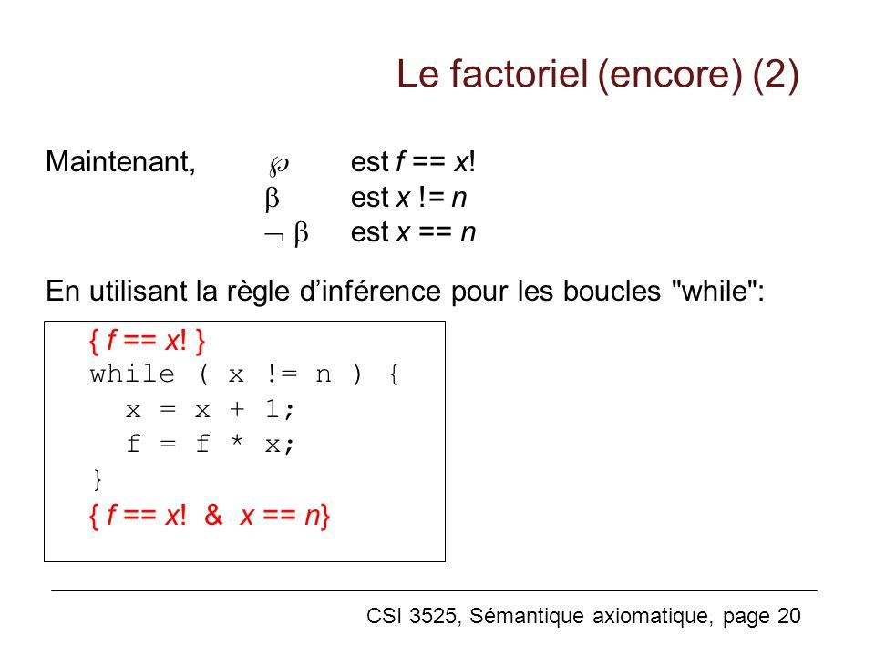Le factoriel (encore) (2)
