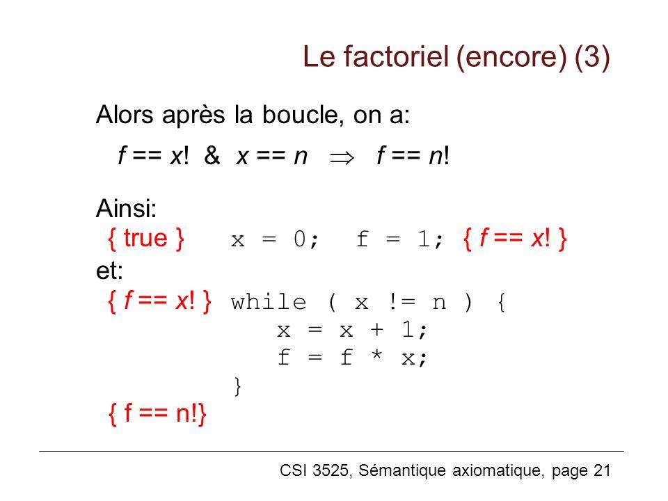 Le factoriel (encore) (3)