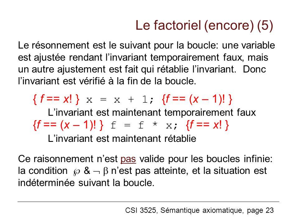 Le factoriel (encore) (5)