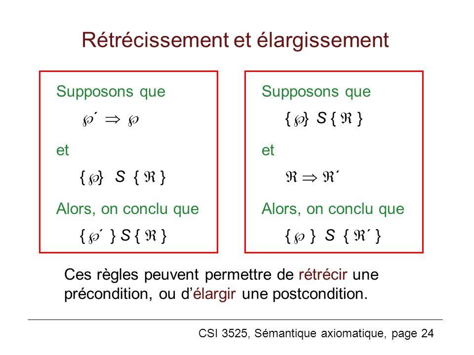 Rétrécissement et élargissement