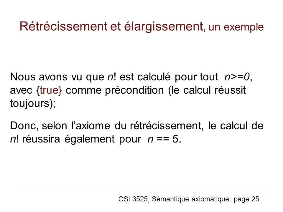 Rétrécissement et élargissement, un exemple