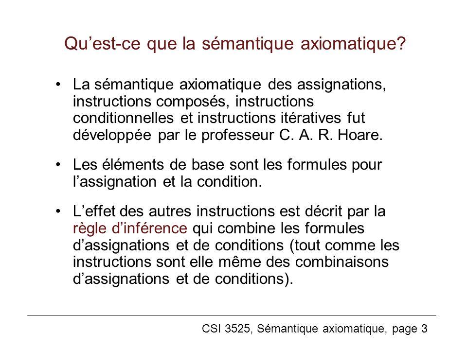Qu'est-ce que la sémantique axiomatique