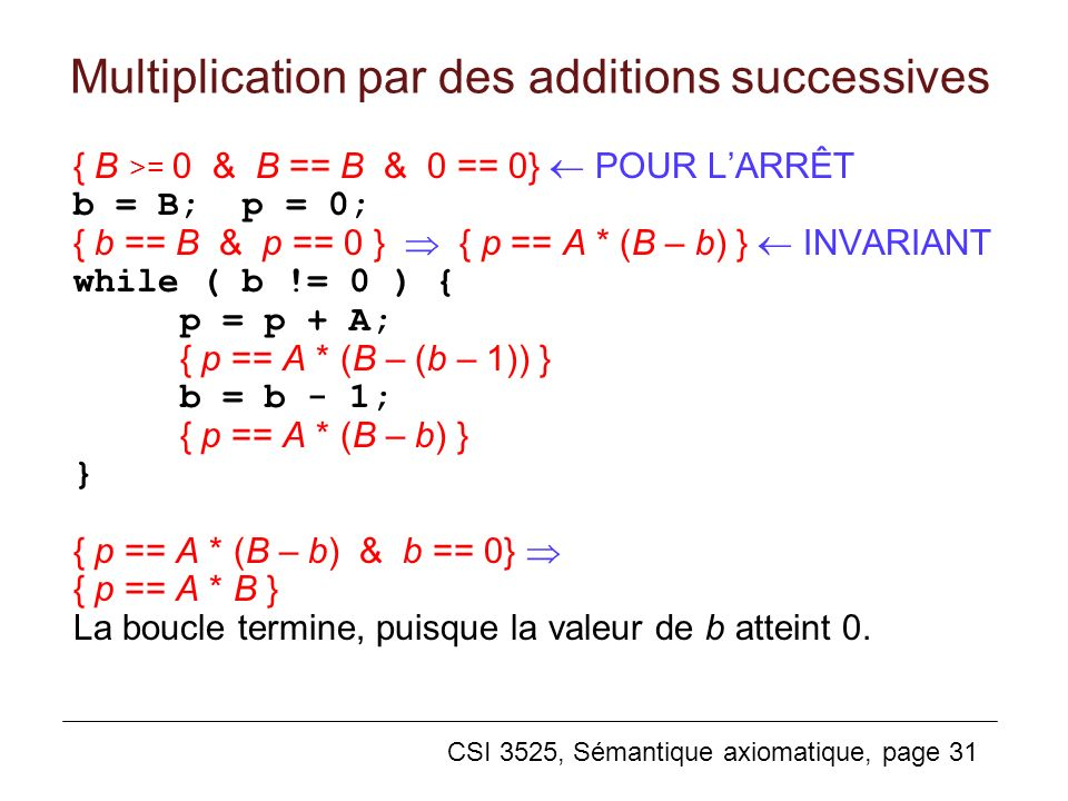 Multiplication par des additions successives
