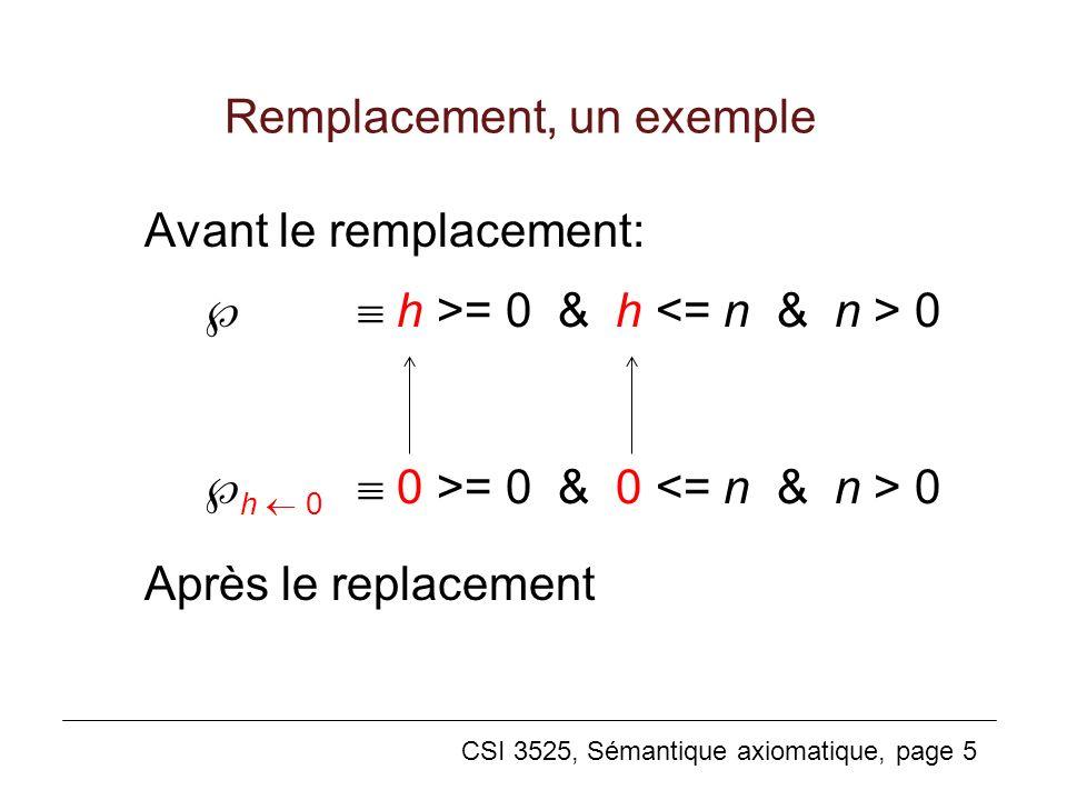 Remplacement, un exemple