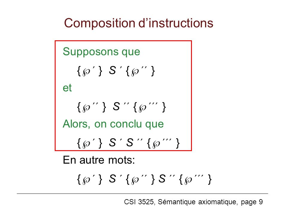 Composition d'instructions
