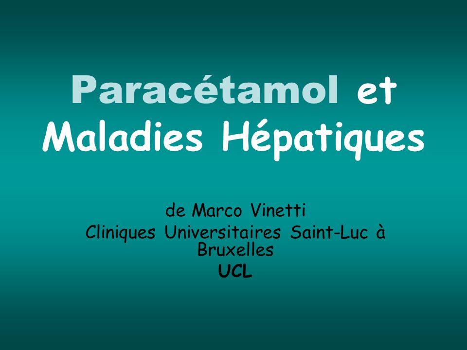 Paracétamol et Maladies Hépatiques