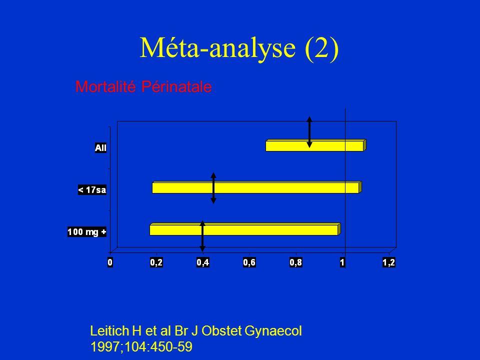 Méta-analyse (2) Mortalité Périnatale