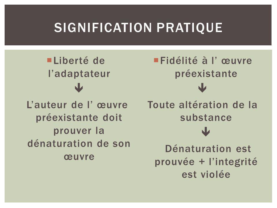 signification pratique