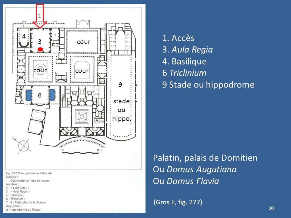 Palatin, palais de Domitien Ou Domus Augutiana Ou Domus Flavia