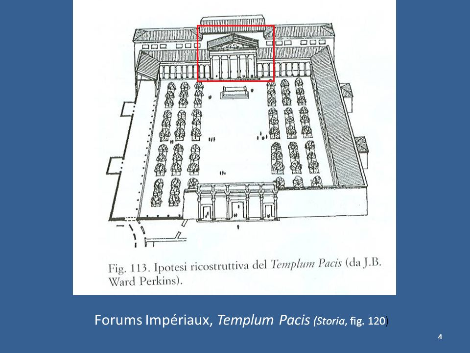 Forums Impériaux, Templum Pacis (Storia, fig. 120)