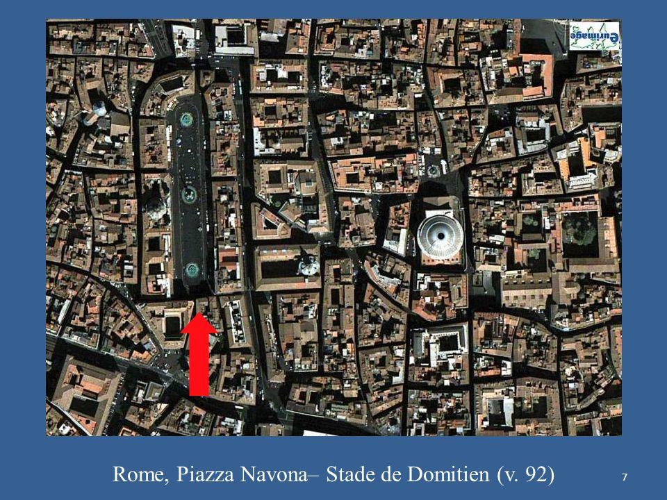 Rome, Piazza Navona– Stade de Domitien (v. 92)