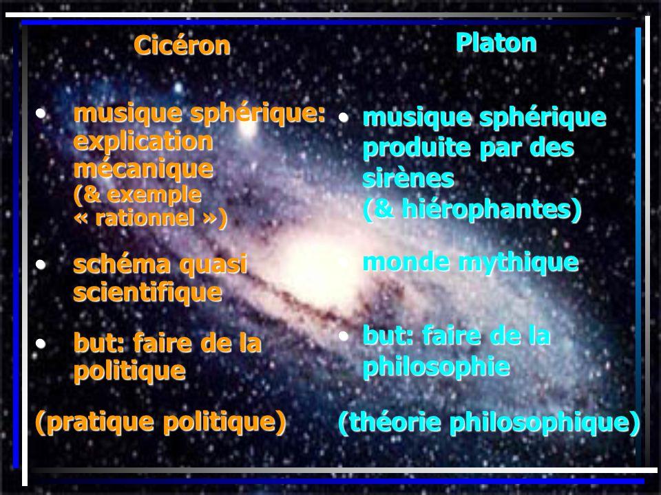 Platon musique sphérique produite par des sirènes (& hiérophantes) monde mythique.