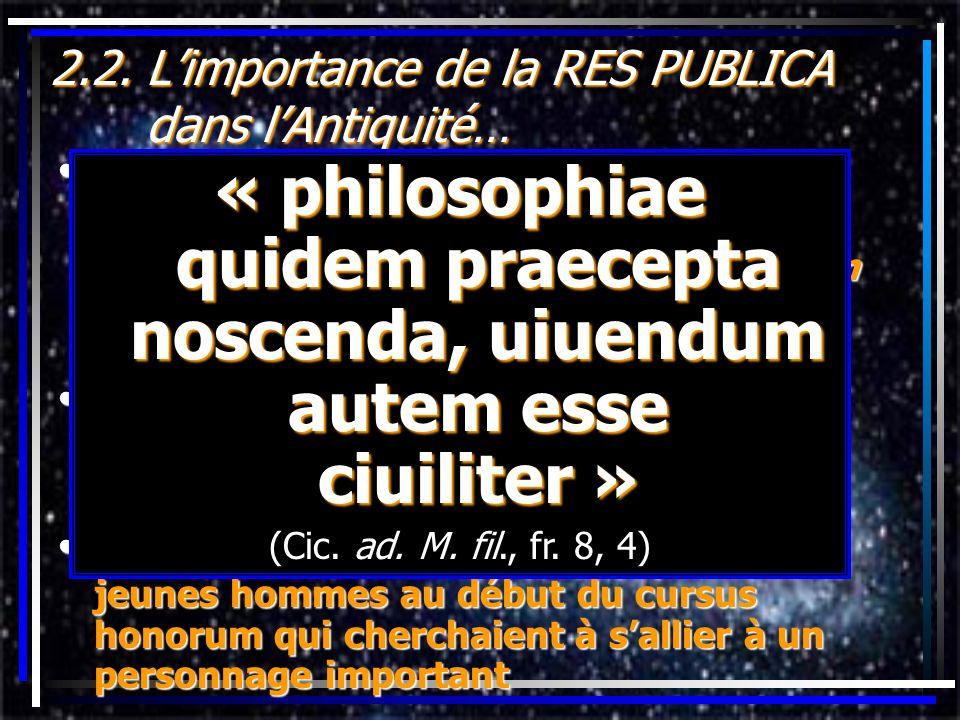 2.2. L'importance de la RES PUBLICA dans l'Antiquité…
