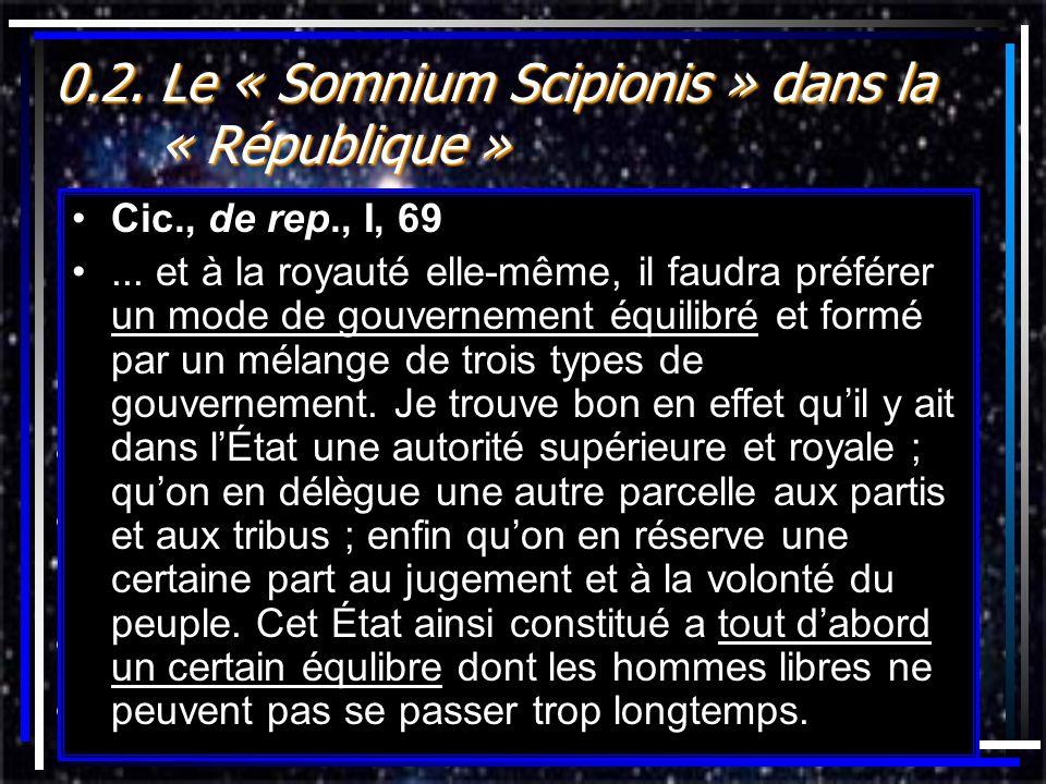0.2. Le « Somnium Scipionis » dans la « République »