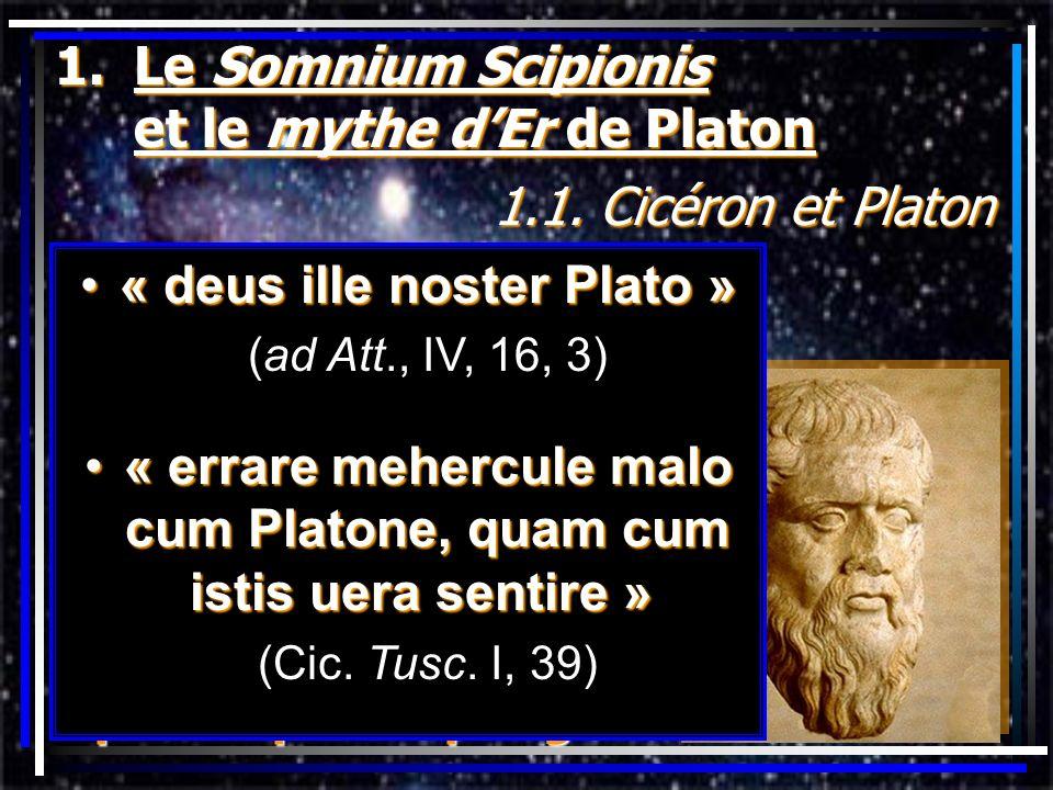 Le Somnium Scipionis et le mythe d'Er de Platon