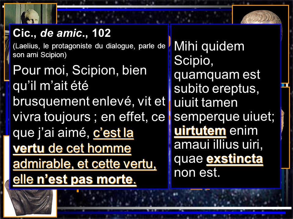 Cicéron Platon Socrate Scipion l Africain Scipion Émilien Er