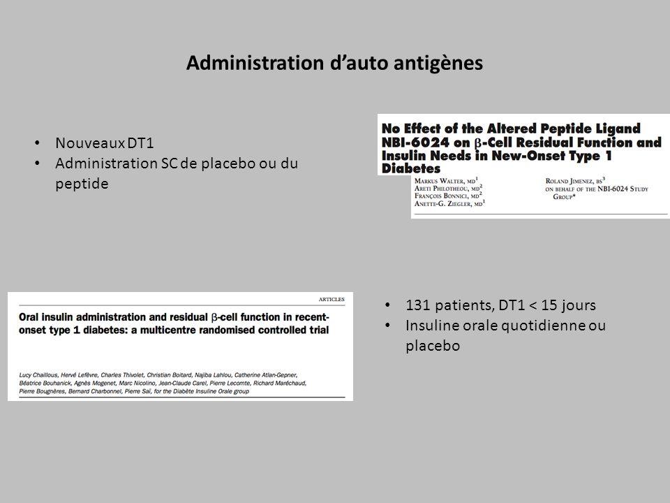 Administration d'auto antigènes