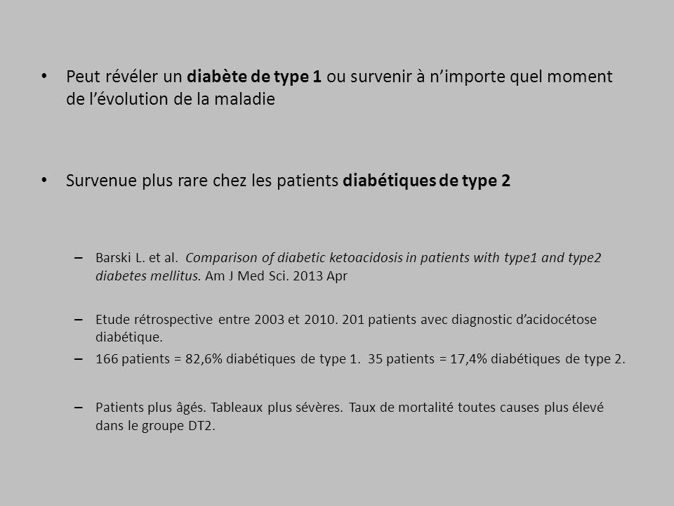 Survenue plus rare chez les patients diabétiques de type 2