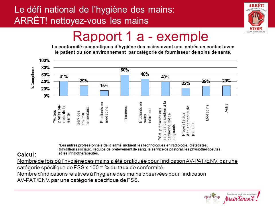 Rapport 1 a - exemple Calcul :