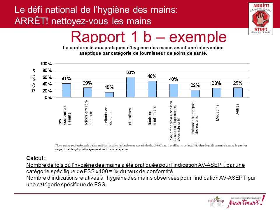 Rapport 1 b – exemple Calcul :
