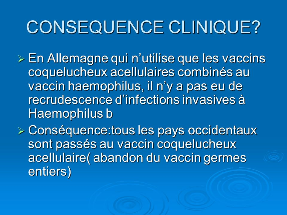CONSEQUENCE CLINIQUE