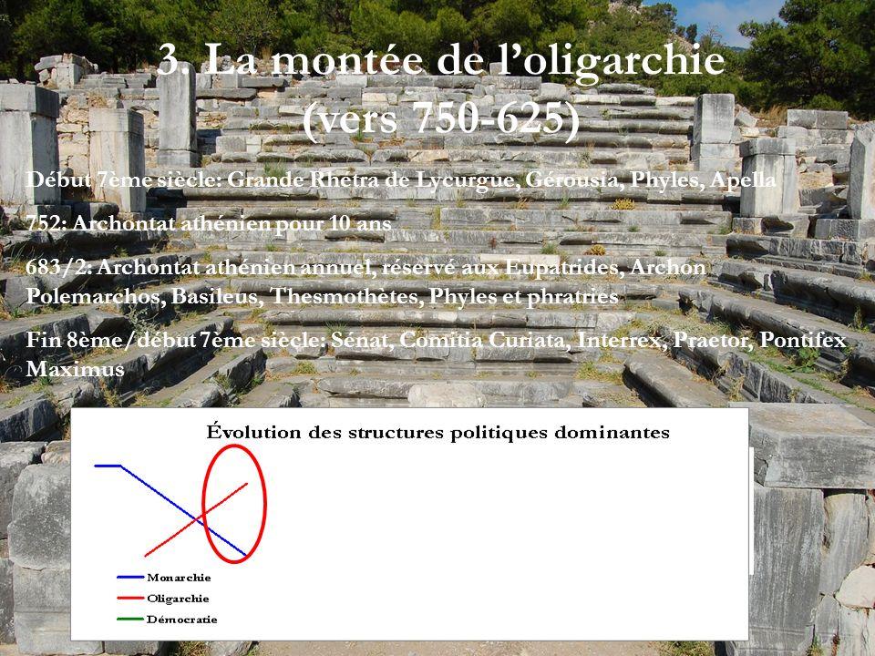 3. La montée de l'oligarchie (vers 750-625)