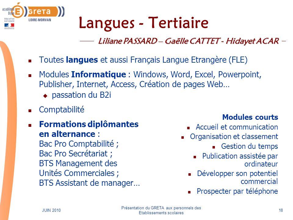 Liliane PASSARD – Gaëlle CATTET - Hidayet ACAR