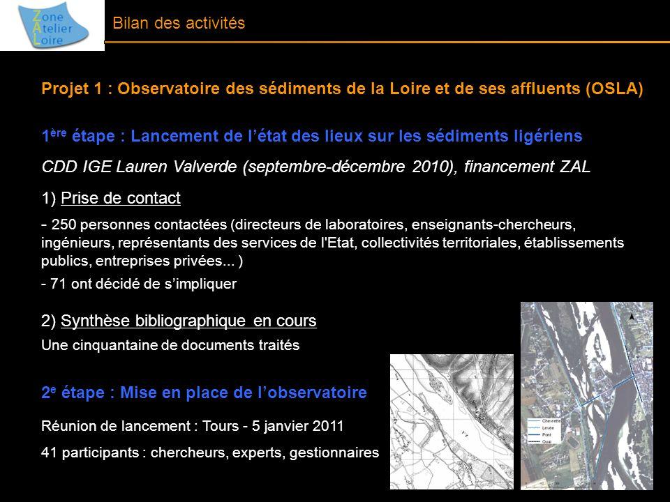 1ère étape : Lancement de l'état des lieux sur les sédiments ligériens